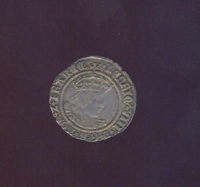England, Toned Extremely Fine Silver Groat of Henry VIII 1509-1547 Free USA Ship