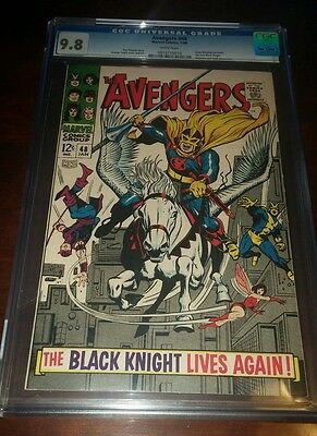 Avengers #48 Cgc 9.8 W/pgs 1St Dane Whitman As Black Knight Only 10 9.8 Exist