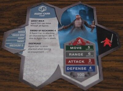 Heroscape Army Card - Agent Carr - Rise of the Valkyrie - 01 of 16