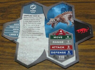 Heroscape Army Card - Dund - Orm's Return - 04 of 16