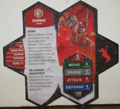 Heroscape Army Card - Grimnak - Rise of the Valkyrie - 06 of 16