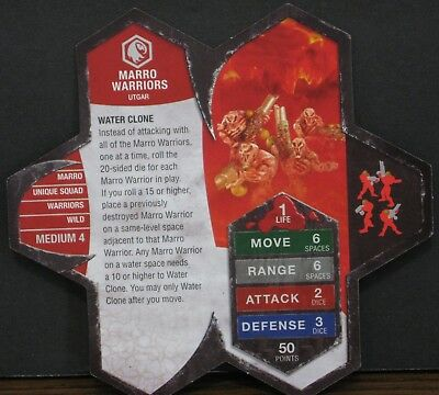 Heroscape Army Card - Marro Warriors - Rise of the Valkyrie - 09 of 16