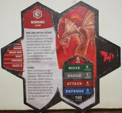 Heroscape Army Card - Mimring - Rise of the Valkyrie - 10 of 16