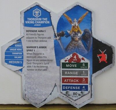 Heroscape Army Card - Thorgrim Viking Champion - Rise of the Valkyrie - 15 of 16