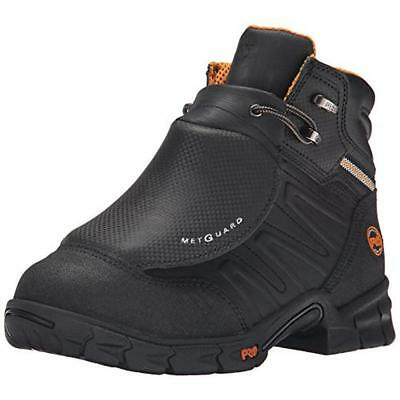 Timberland 6847 Mens Excave Black Leather Work Boots Shoes 9 Medium (D) BHFO