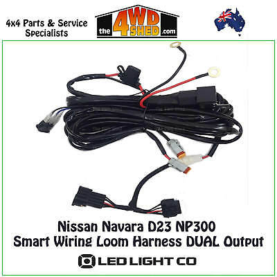 LED SMART WIRING LOOM HARNESS DUAL OUTPUT suits NISSAN NAVARA D23 NP300