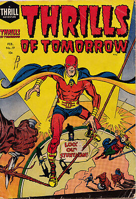 THRILLS OF TOMORROW #19 1955 GOOD condition SIMON & KIRBY reprints STUNTMAN