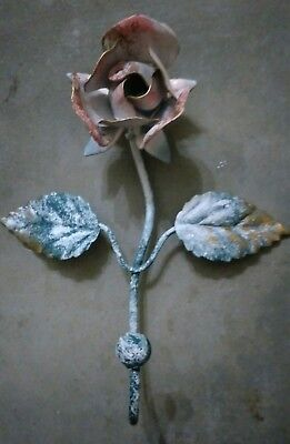 Vintage Rose flower Wall Hook-French shabby