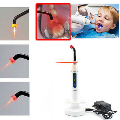Dentist Dental LED Curing Light Lamp Wireless Cordless Resin Cure 5W 2000MW USA