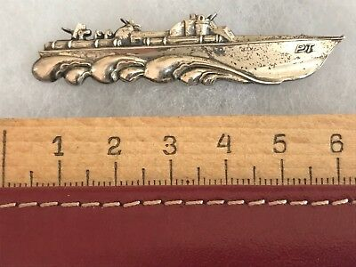 WW2 Sterling Silver Navy PT Boat Torpedo 109 WWII US Original Pin Insignia