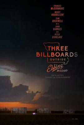 "THREE BILLBOARDS OUTSIDE EBBING, MISSOURI 13.5""x20"" Original Promo Movie Poster"