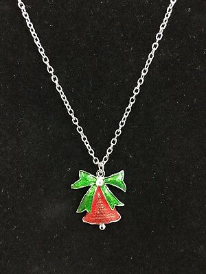 christmas bell Necklace  jewelry christmas stocking stuffer  gift #55 festive