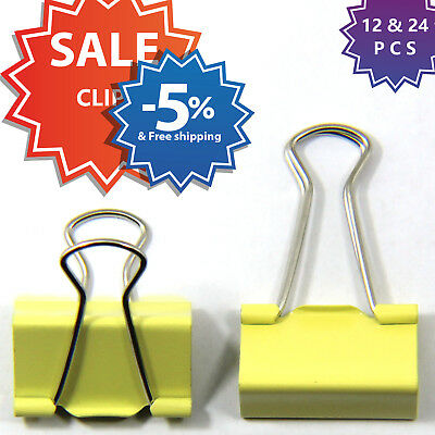 Large Metal Binder Clips, Foldback Clips, Elliot folder, Metal Grip Clamps.