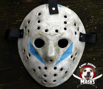 "Friday the 13th Part 5 (v) ""Film Accurate"" Hand painted Jason Hockey Mask"
