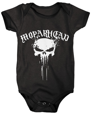 Baby Grow Baby Suit Mopar Head Punisher Motorhead Plymouth  0-3/12/18 Months