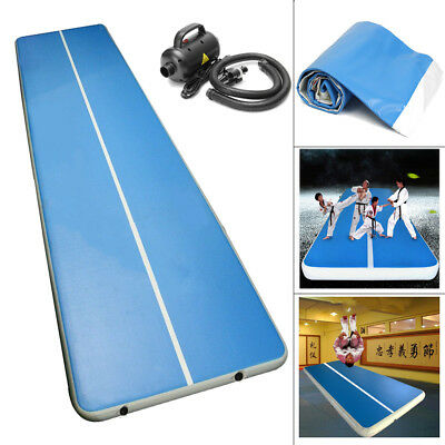 4x2M Inflatable Home Floor Pad Gymnastic Tumbling Gym Cheerleading Track Air Mat
