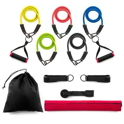 13pc Strong Exercise Resistance Bands Set, Fitness Stretch Bands With Carry Bag