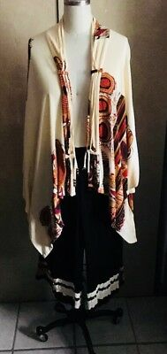 2pc Southwest Indian Tribal Print Blouse And Gaucho Pants One Size