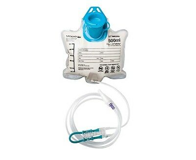 30 EnteraLite Moog Infinity 500ml Enteral Pump Delivery Set Feeding Bag