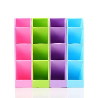 1X Plastic Holder Makeup Storage Tray Desk Organizer Desktop Office Pen Pencil