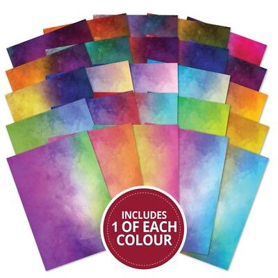 Hunkydory Adorable Scorable Vibrant WATERCOLOUR Cardstock 25 Sheet pack 350gsm