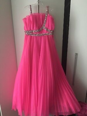 Unique Fashions Hot Pink Pageant Gown Girls 10, great for Preteen!