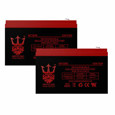 2 Neptune 12V 7AH CA1270 for Scooter Bike Battery Replaces 7Ah High HGH 6-DFM-7