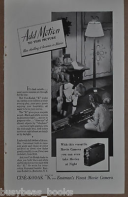 1933 KODAK Cine-Kodak advertisement, movie camera, Lionel Standard Gauge train