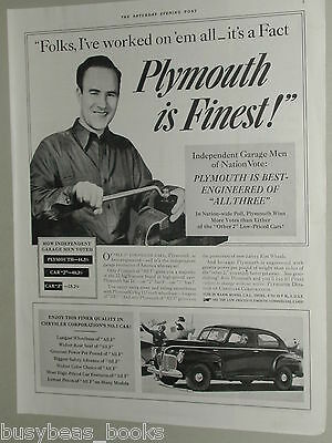 1941 Plymouth advertisement page, Chrysler Plymouth coupe, mechanic