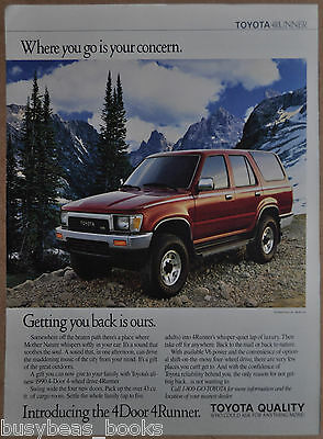 1990 TOYOTA 4RUNNER advertisement, Toyota 4 Runner SUV