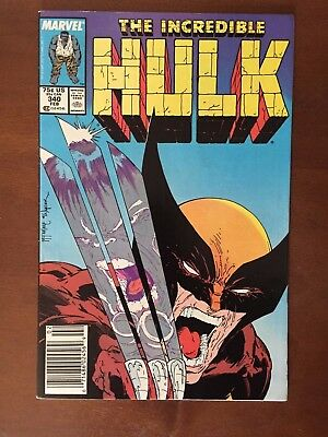 Incredible Hulk #340 Classic Todd McFarlane Wolverine Cover! NEWSSTAND EDITION!