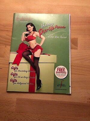 Lot of 2 2007 FREDERICK'S OF HOLLYWOOD HOLIDAY Catalog Featuring DITA VON TEESE