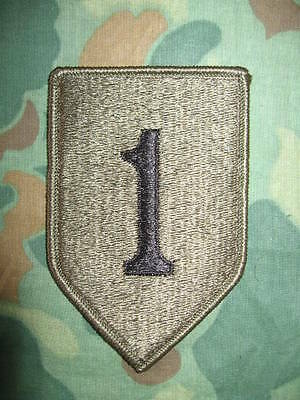 1st Infantry Division Patch, Abzeichen - SUBDUED - BIG RED ONE - US Army Vietnam