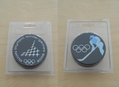 Turin Torino 2006 Winter Olympics Official Game Hockey Puck