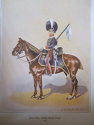 Military Print- Trooper Mounted Rocket Corps Royal Horse Art By R J Macdonald