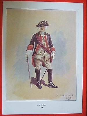 Military Print- Officer Of The Royal Artillery 1764  By R J Macdonald
