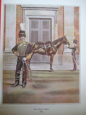 MILITARY PRINT-FIELD OFFICER &TRUMPETER ROYAL HORSE ARTILLy 1855- R J MACDONALD