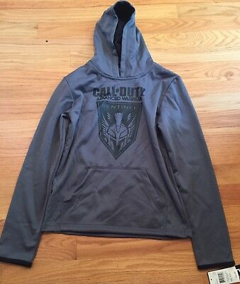 Boys Activision Call Of Duty Hooded Pull Over Sweatshirt Size S (8) NEW