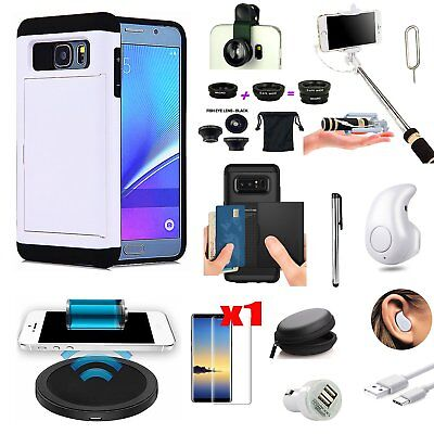 11 PCS Case Qi Wireless Charger Earphone Lens Accessory For Samsung Galaxy S8