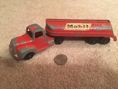 Vintage Toy Tanker Truck with Mobil Branding
