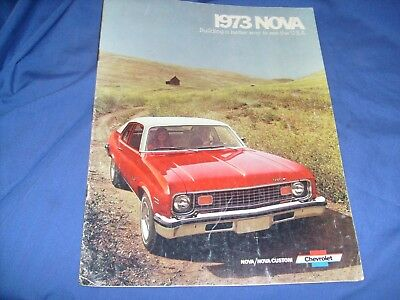 1973 Chevrolet Nova Brochure Coupe/Sedan/SS/ Hatchback+   /j4