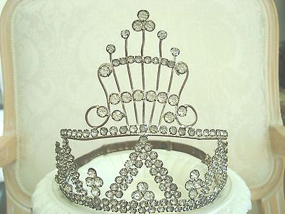 EXQUISITE X-LARGE LIFESIZE Antique French Crown Wedding Crown From France