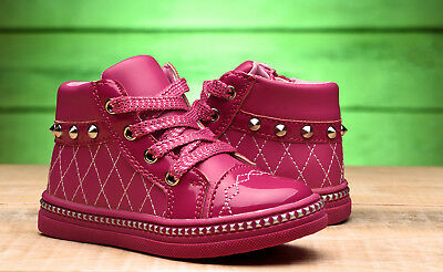 Girls Trainers Kids High Ankle Shoes