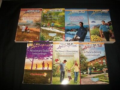 Lot of 7 Books by Linda Goodnight, Love inspired Romances