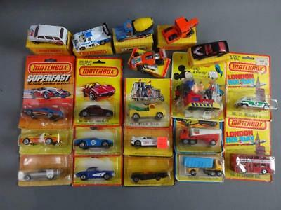 Vtg Matchbox Mixed Carded & Boxed Superfast Lot w/ #46 Hot Chocolate VW, Goofy +