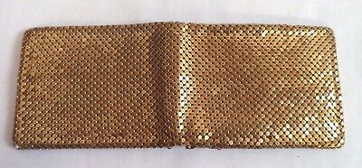 Beautiful Vintage Estate Gold Tone Whiting & Davis Mesh Folding Wallet!!! B114