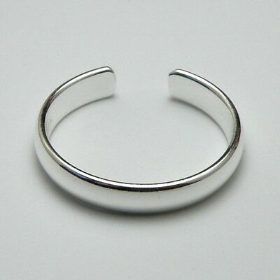 Solid 925 Sterling Silver Toe Ring / Midi Ring Plain Band 3 mm New with Gift Bag