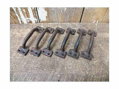 "Lot/Set of 6 Rust Rustic New 3.5"" Cast Iron Small Drawer Pull Handle Cupboard..."