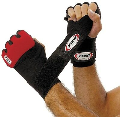 T-Sport Boxing Martial Arts Sports Hand Protection Gel Shock Wraps Black/Red