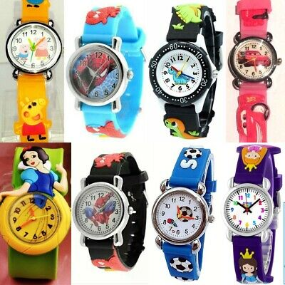 Girl Boy 4-9 years Steel case Rubber band Analog Wrist Watch selection Childrens